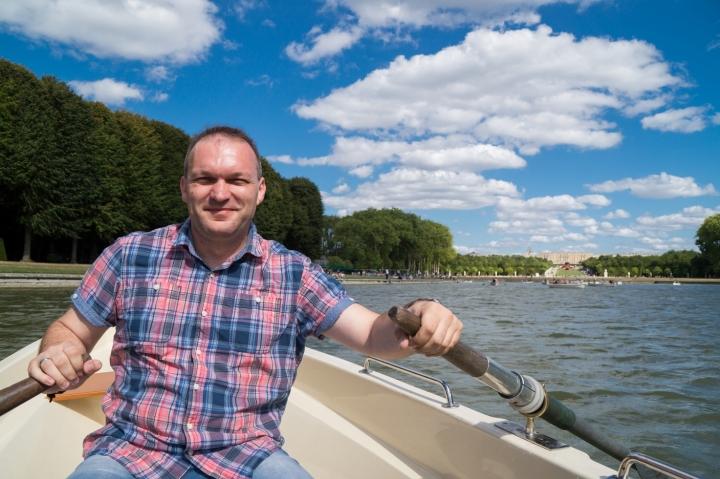 Paryż Wersal - łódki na stawie