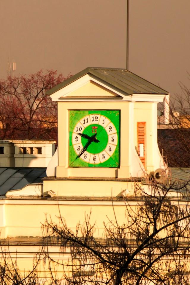 Zegar nad Muzeum Zabawek
