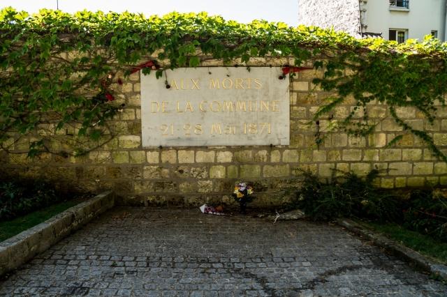 ściana komunardów