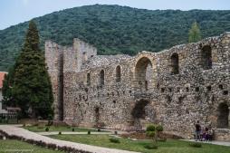 Klasztor Manasija - mury obronne