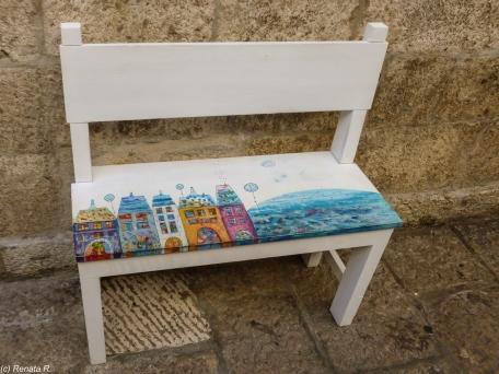 Dubrownik - ławka na ulicy
