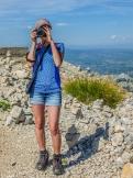 Jezerski Vrh - Renia, fotograf na szczycie