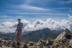 Jezerski Vrh - Mikołaj na tle gór