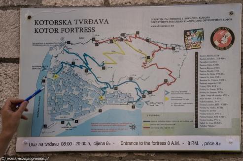 Kotor - forteca św. Jana