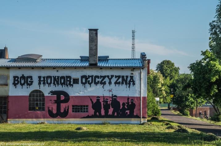 Elbląg - mural na Wyspie Spichrzów