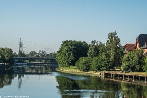 Elbląg - rzeka Elbląg i Wyspa Spichrzów