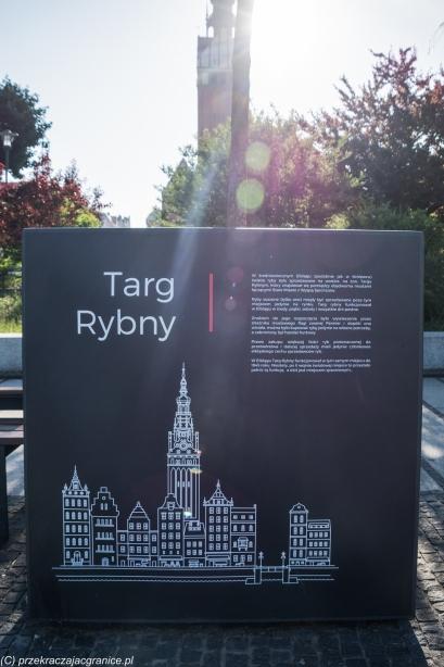 Elbląg - Targ Rybny, tablice informacyjne