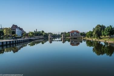 Elbląg - rzeka Elbląg i Most Wysoki