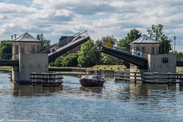 Elbląg - podniesiony Most Wysoki