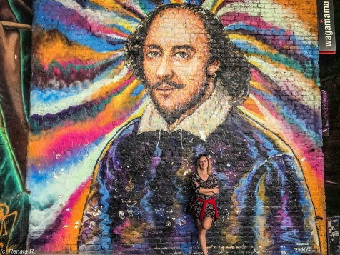 Londyn - mural Williama Shakespeare'a