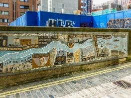 Londyn - uliczna mozaika
