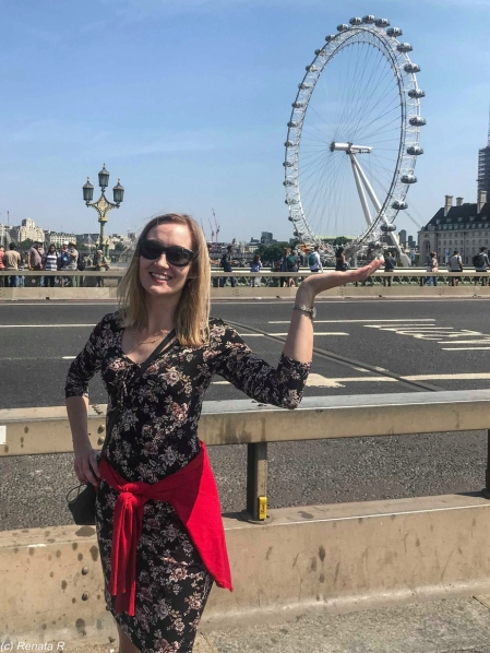Londyn - London Eye jak na dłoni