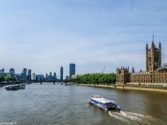 Londyn - widok na Tamizę