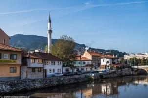 Sarajewo - minaret Meczetu Cesarskiego