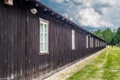 Stutthof - barak z wystawą poglądową