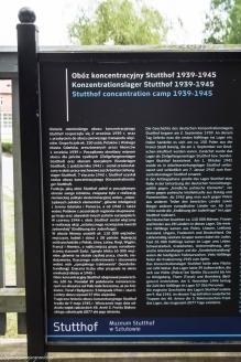 Stutthof - tablica informacyjna