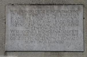 Stutthof - tablica pamiątkowa
