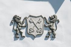 Kierpajny Wielkie - Dworek folwarczny, herb właścicieli