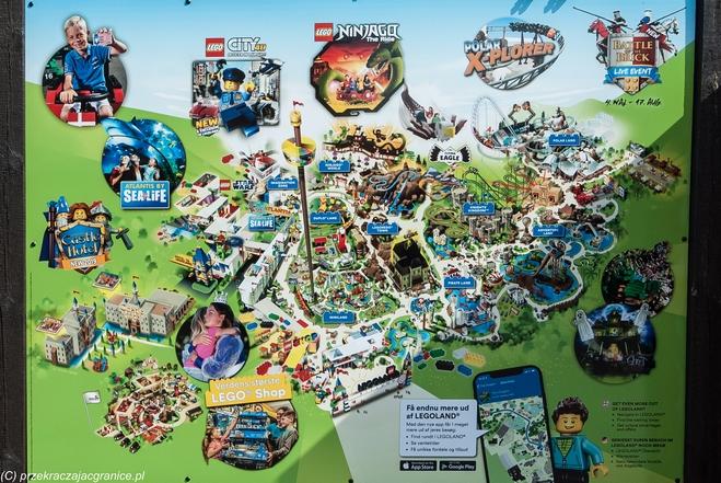 Mapa atrakcji Legolandu