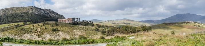 Segesta - panorama okolicy spod szczytu